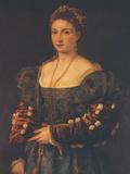 Portrait of a Noblewoman Giclée-tryk af  Titian (Tiziano Vecelli)