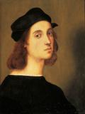 Self Portrait Giclée-tryk af Raffaello Sanzio