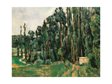 The Poplars Reproduction procédé giclée par Paul Cézanne