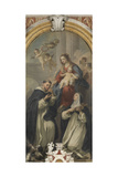 Madonna of the Rosary with Saints Dominic and Rose Giclee Print by Jacopo Amigoni