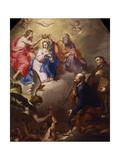 Coronation of the Virgin Giclee Print by Bortolo Litterini