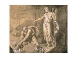 Tobias and the Archangel Raphael (Tobiolo e L'Arcangelo Raffaele) Giclee Print by Vitale Sala