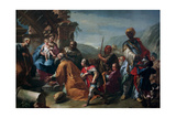Magi Adoration Giclee Print by Francesco Polazzo