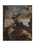 Beheading of St Julian Giclée-tryk af Antonio Zanchi