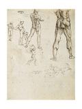 Figure Studies and Nudes for the Battle of Anghiari Giclee Print by  Leonardo da Vinci