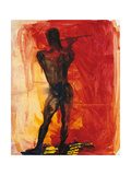 Man with Flute Giclee Print by Rainer Fetting