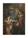 Apparition of Our Lady to Mary Magdalene Giclee Print by Giuseppe Ghedini
