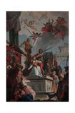 St. Catherine's Martyrdom Giclee Print by Francesco Fontebasso