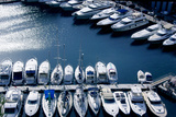 White Boats Stored in the Bay of Port Monaco Photographic Print by Laetitia Julien