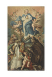 The Immaculate Conception with Saints Francis and Biagio Giclee Print by Gregorio Lazzarini