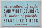 Stand Like A Rock Thomas Jefferson Quote Art