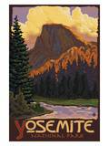 Half Dome, Yosemite National Park, California Poster par  Lantern Press