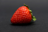 Strawberry on the Black Background Photographic Print by Laetitia Julien
