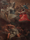 The Lord with the Archangel St. Michael Victorious over the Demons Giclee Print by Filippo Comerio