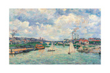The Port at Charenton Giclee Print by Jean-Baptiste-Armand Guillaumin