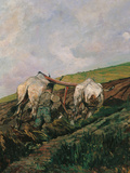 Ploughing Giclee Print by Giovanni Fattori