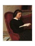 The Reader (Marie Fantin Latour, the Artist's Sister) Giclee Print by Henri Fantin-Latour