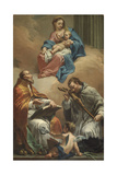 Madonna and Child with Saints Nicholas and John of Nepomuk Giclee Print by Jacopo Marieschi