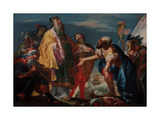 Abraham Offers Gifts to Melchizedek Giclee Print by Nicola Marcola