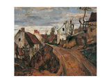Village Street in Auvers Giclee Print by Paul Cézanne