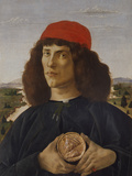 Portrait of a Man with a Medal of Cosimo the Elder Giclee Print by Sandro Botticelli