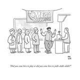 """""""Did you come here to play or did you come here to yidle-didle-didle"""" - Cartoon Giclee Print by Paul Noth"""