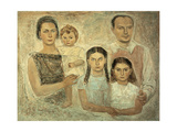The Family of the Architect Ponti Giclee Print by Massimo Campigli