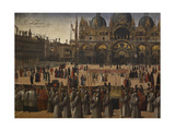 Procession in St Mark's Square Giclée-tryk af Gentile Bellini