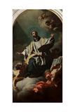 Saint Cajetan in Glory Giclée-tryk af Francesco Solimena