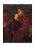 Femme et enfant Reproduction procédé giclée par Felice Carena