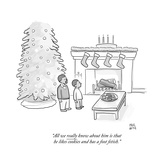"""All we really know about him is that he likes cookies and has a foot feti - Cartoon Regular Giclee Print by Paul Noth"