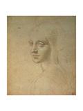 Portrait of a Girl Giclée-tryk af Leonardo da Vinci,