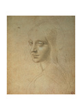Portrait of a Girl Giclee Print by  Leonardo da Vinci