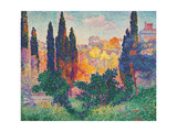 Cypress Trees at Cagnes Giclee Print