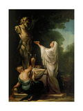 Sacrifice to Pan Giclee Print by Francisco de Goya