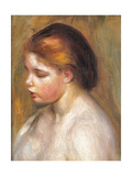 Bust of a Nude Young Girl Giclee Print by Pierre-Auguste Renoir