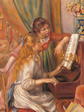 Girls at the Piano Giclee Print by Pierre-Auguste Renoir