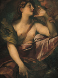 St Mary Magdalene Penitent and an Angel Giclee Print by Giulio Cesare Procaccini