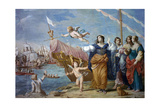 Antonio Abandons His Men in the Battle of Pythian Giclee Print by Jean Boulanger
