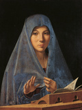 The Virgin Annunciate Giclée-tryk af Antonello da Messina