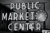 BW Public Market Sign II Photographic Print by Bob Stefko