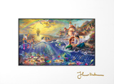Little Mermaid Matted Print by Thomas Kinkade