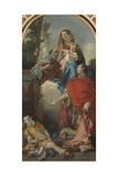 St. Oswald Who Asks for the Healing of the Child Giclée-tryk af Giandomenico Tiepolo