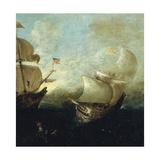 Naval Battle Giclee Print