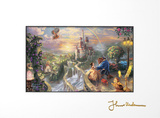 Beauty and the Beast Falling in Love Matted Print by Thomas Kinkade