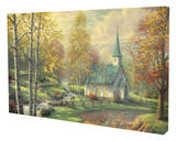 Aspen Chapel Stretched Canvas Print by Thomas Kinkade