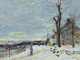 Snow at Veneux Nadon Giclee Print by Alfred Sisley