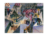 Tabac Coiffeur Giclee Print by Gino Severini
