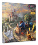 Beauty and the Beast Falling in Love Stretched Canvas Print by Thomas Kinkade