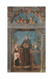 St Bernardine of Siena and Angels Giclee Print by Andrea Mantegna